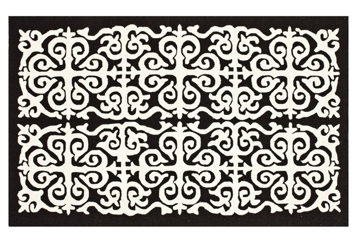 Karma Rug, Chocolate/White