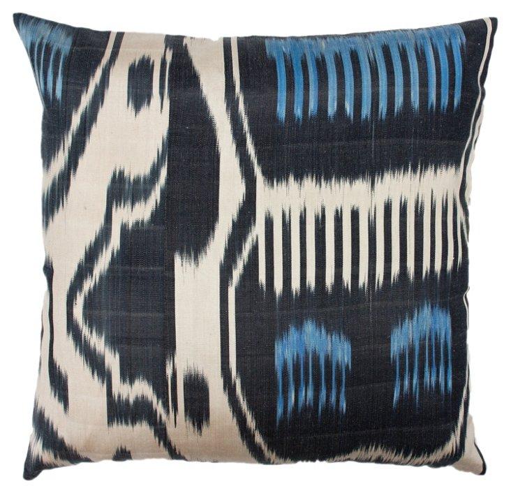 Sea Ikat 18x18 Pillow, Blue