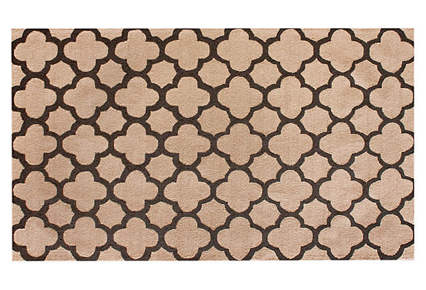Neid Trellis Rug, Tan/Chocolate