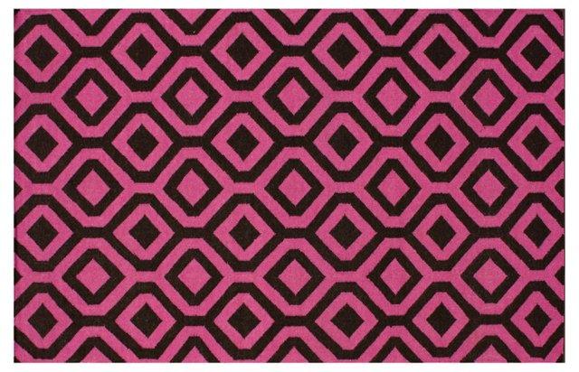 Mae Flat-Weave Rug, Fuchsia