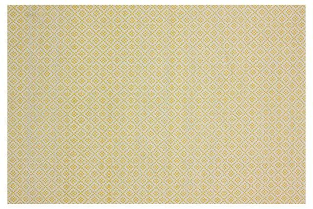 Alexa Flat-Weave Rug, Butter/Ivory