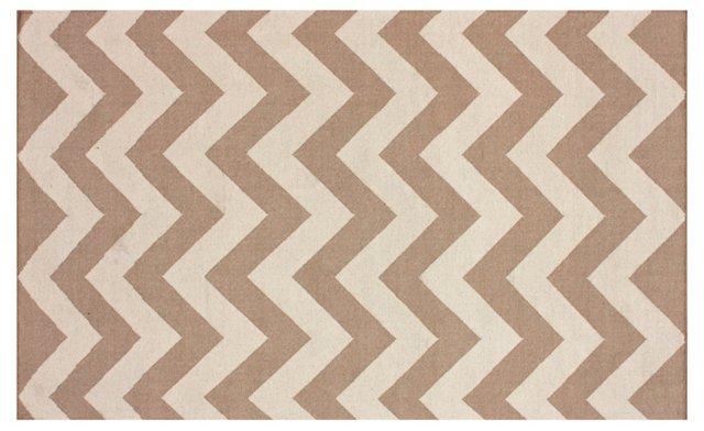 Leigh Flat-Weave Rug, Sand/Linen
