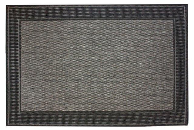 Hale Outdoor Rug, Black/Gray