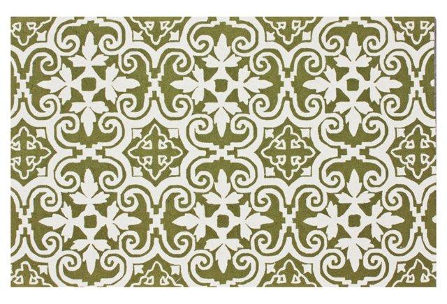 5'x8' Reve Rug, Green