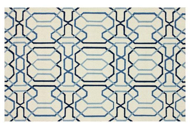 Marya Rug, Blue/Ivory