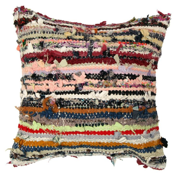 Potpourri 16x16 Wool Pillow, Multi