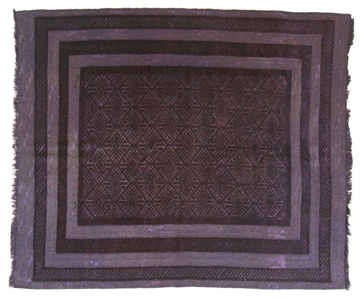 5'x6' Tokat Kilim Rug, Violet