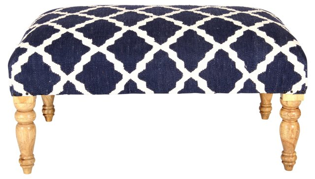 Bellina Trellis Bench, Navy