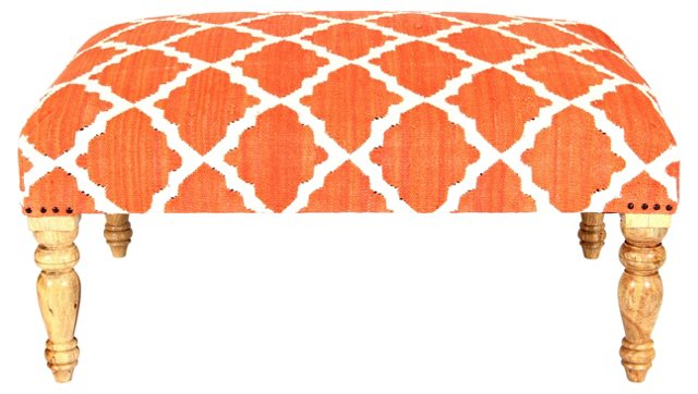 Bellina Trellis Bench, Pumpkin