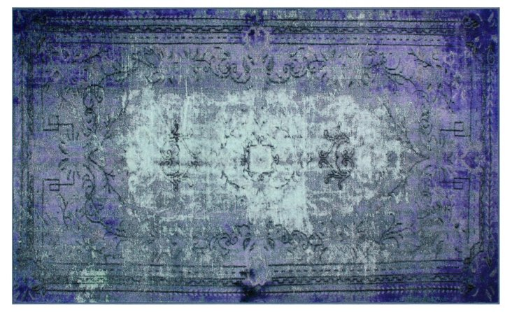 "8'2""x9'11"" Bidu Rug, Purple/Aqua/Gray"