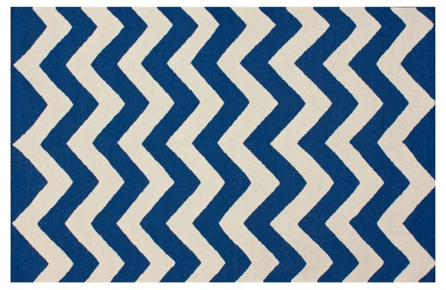 Ace Flat-Weave Rug, Navy