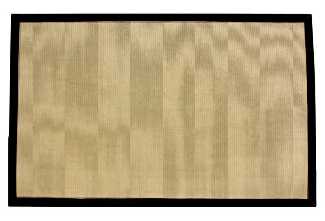 Carl Jute Rug, Black/Natural