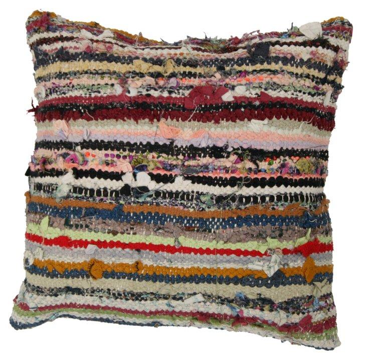 Ribbons 18x18 Wool Pillow, Multi