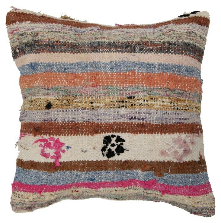 Ribbons 16x16 Wool Pillow, Multi