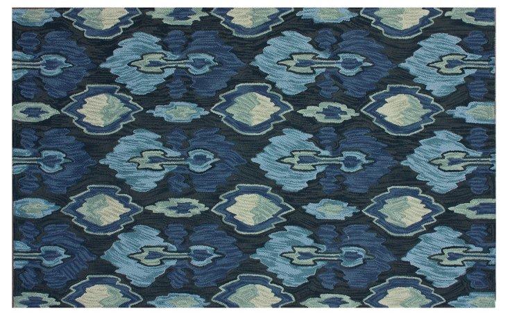 Rain Rug, Charcoal/Blue