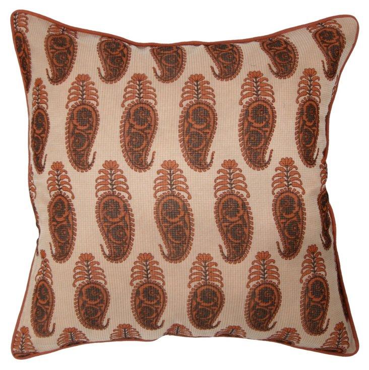 Kerch 20x20 Cotton Pillow, Tan