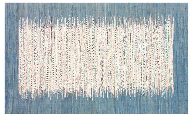 Cora Flat-Weave Rug, Denim