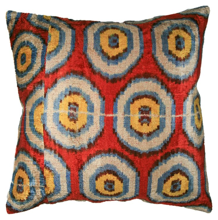 Bullseye 18x18 Pillow, Red