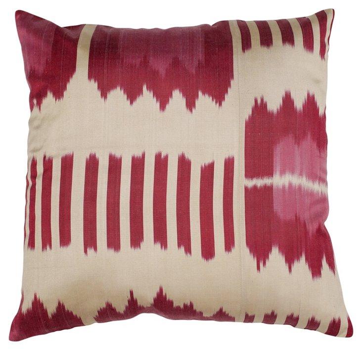 New Delhi 18x18 Pillow, Magenta