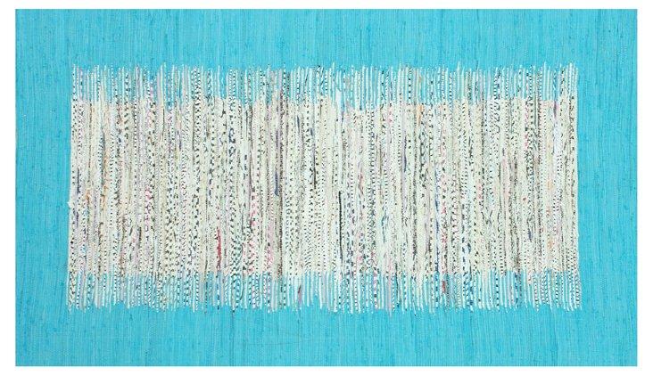 Cora Flat-Weave Rug, Aqua