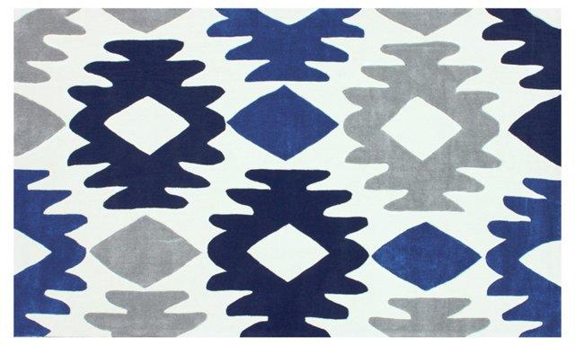 Khloe Rug, Blue/Ivory