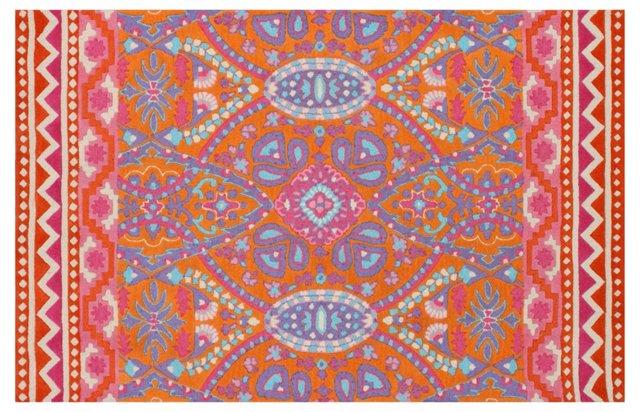 Samantha Rug, Orange/Multi