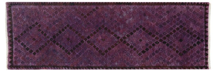 "3'1""x9'3"" Pua Flat-Weave Runner, Purple"