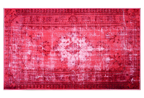 Bess Overdye Rug, Strawberry