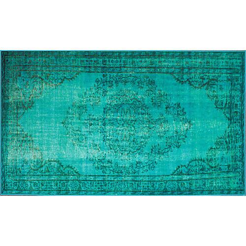 Genisa Overdyed Rug, Turquoise