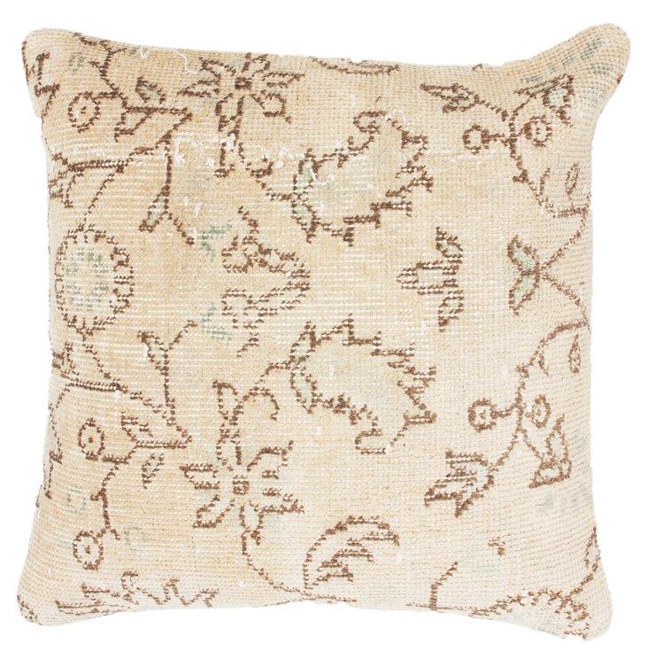 Flower 20x20 Pillow, Natural