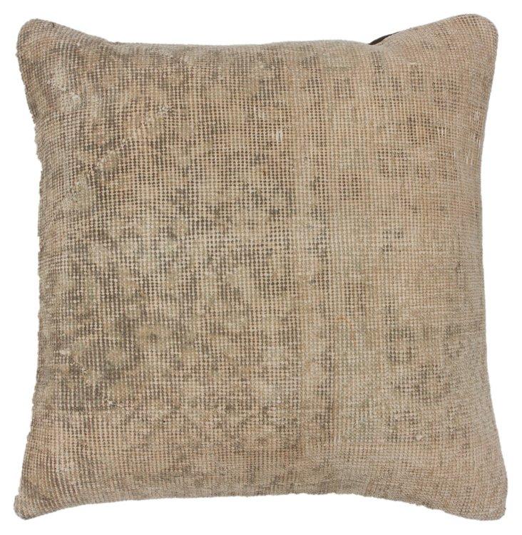 Overdyed 20x20 Wool Pillow, Wheat