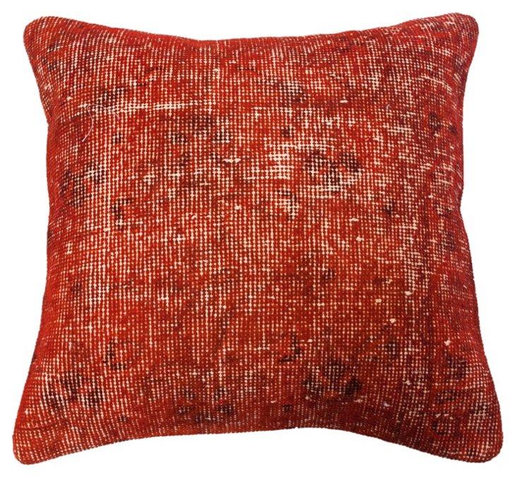Mar 20x20 Pillow, Red Orange