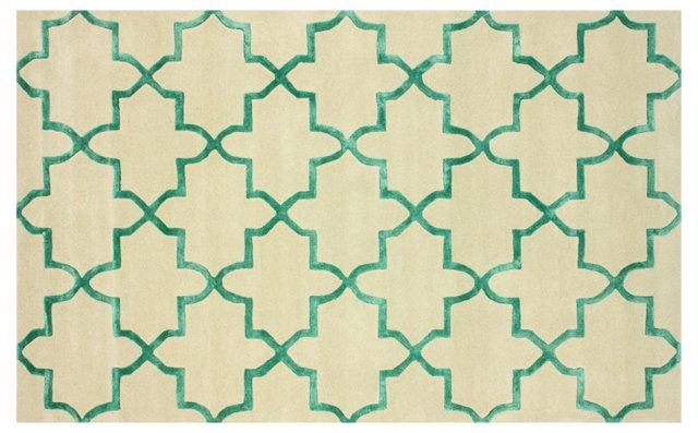 Philo Rug, Ivory/Green