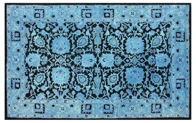 Clairbornne Rug, Blue/Black