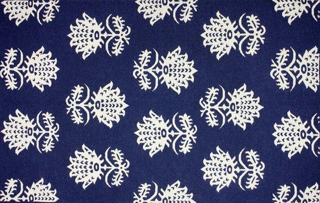 Sayre Flat-Weave Rug, Navy