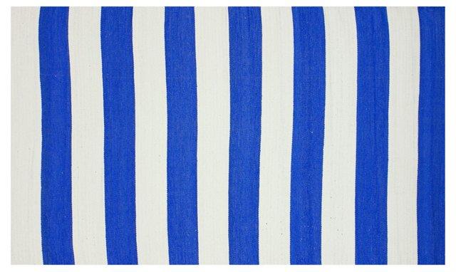 Mio Outdoor Flat-Weave Rug, Blue