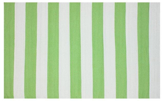 Mio Outdoor Flat-Weave Rug, Green