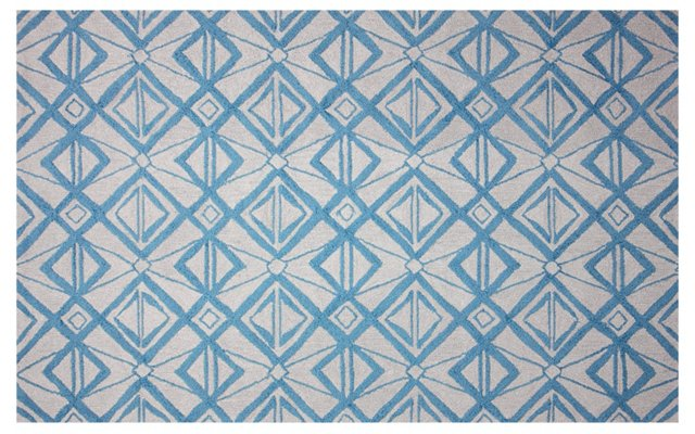 Conor Outdoor Rug, Light Blue