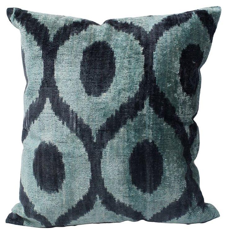 Suzi 18x18 Silk-Blended Pillow, Multi