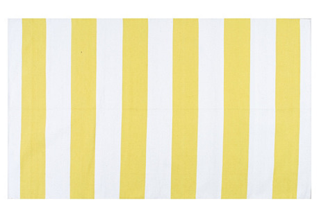 Alvina Flat-Weave Rug, Yellow