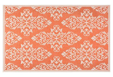 Bivins Outdoor Rug, Orange