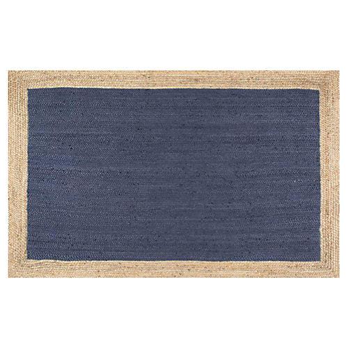 Anka Jute Rug, Blue