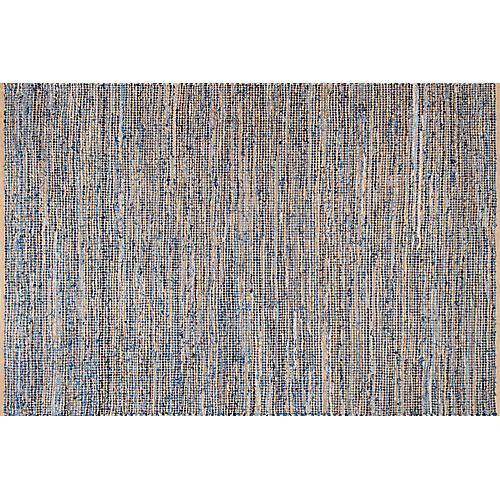Ampton Jute Rug, Blue/Natural