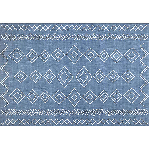 Kandace Outdoor Rug, Blue
