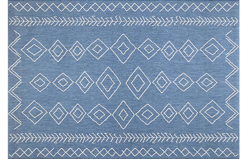 Kandace Outdoor Rug Blue Outdoor Rugs Rugs One Kings Lane