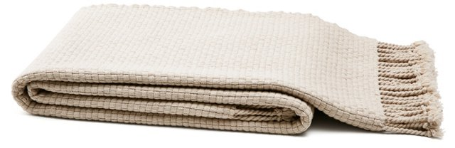 Portside Cotton Throw, Fawn