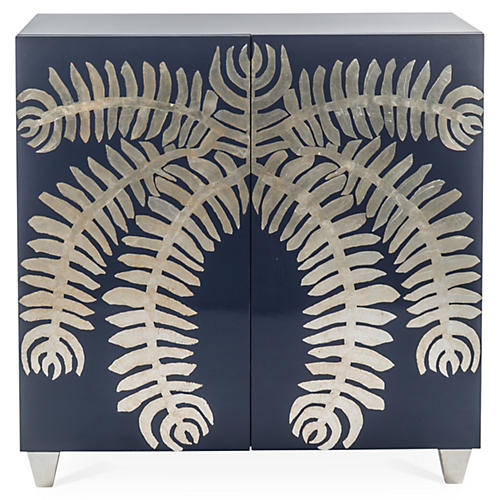 Palm Chest, Navy/Champagne