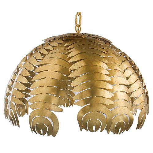Palm 3-Light Pendant, Gold