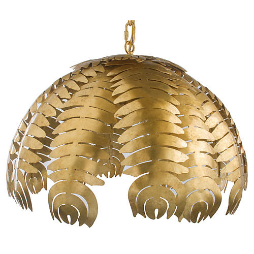 Palm 3-Light Pendant, Gold