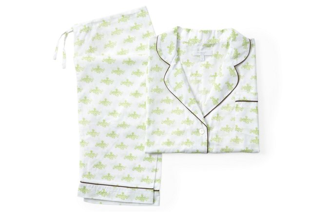 Octopus Long Pajama Gift Set, Lime